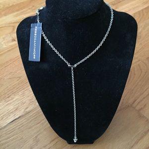 NWT Rebecca Minkoff Acorn Y necklace in silver
